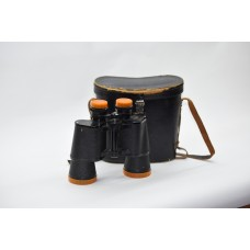 VINTAGE  BINOCULARS COATED OPTICS  LEATHER CASE 10X50