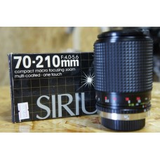 Sirius 70-210mm f4.0-5.6 Compact Macro Zoom For Olympus