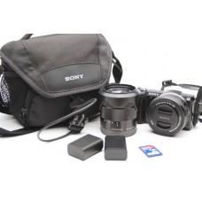 Sony Alpha A5000 20.1MP Digital Camera 16-50mm & 18-55mm Lenses