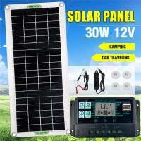 250114 Solar Panel 12V 20W Caravan Battery Charger