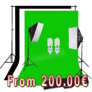 SoftBox Kit 3m x 6m Choose Color Background Stand 2x3m 250W