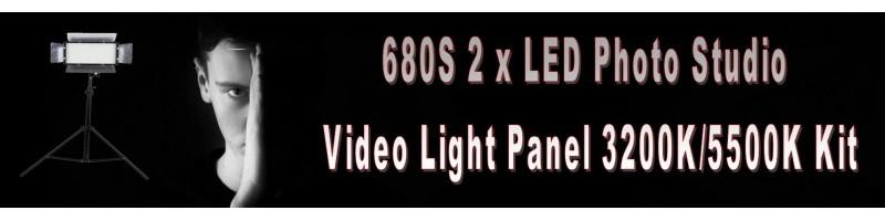 680S 2 x LED Photo Studio Video Light Panel