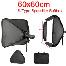 Softbox 60x60cm  S-type Bowen or Elinchrom Speedlite Softbox