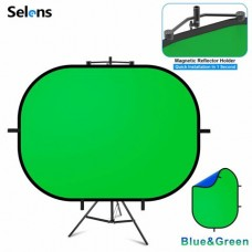 31512 100 x 150cm Collapsible Chroma Green Blue Screen Background Holder Stand Kit