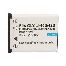 Li-40B - Li-42B - KLIC7006 - EN-EL10 - DLI63 - NP45   Battery for OLYMPUS, KODAK, NIKON, FUJIFILM, PENTAX,