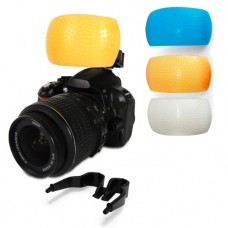 3 Color Pop up Flash Diffuser Cover Kit
