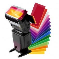 12pc Strobist Flash Color Lighting Gel Pop Up Filter
