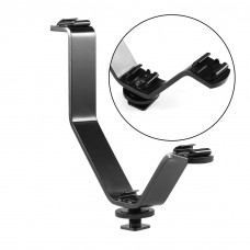 Triple Mount  Flash Bracket Hot Shoe