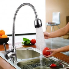 36544 360 Degree Rotatable Spout Single Handle Sink Faucet Pull Down Spray Mixer Tap