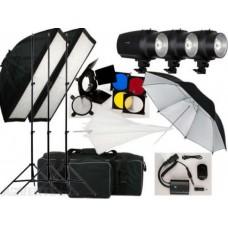 540w Studio Flash Lighting set 3x180w Light Kit