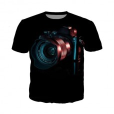 T-shirt 3D Camera Black Sony a7 Print