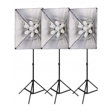 4200w 3 x Softbox DOUBLE DIFFUSION Lighting Set