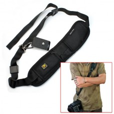 Anti Slip Black Single Shoulder Sling Belt Strap