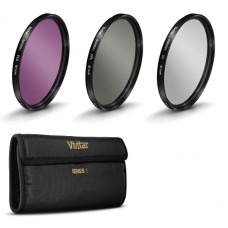 VIVITAR 52 MM Lens Filter Kit UV CPL FLD