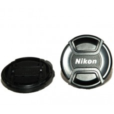 49-82mm Center Pinch Snap-on Front Lens Cap Cover for Nikon