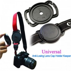 40.5mm 49mm 62mm, Lens Cap Cover Anti Lost Buckle Holder