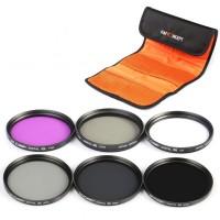 K&F Concept 62mm UV CPL FLD ND2 4 8 Lens Filter Set