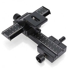 4-Way Macro Focusing Slider for SLR Camera Tripod Bracket
