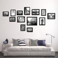 13PCS Multi Home Photo Picture Frames Set Wall Decor Present Black