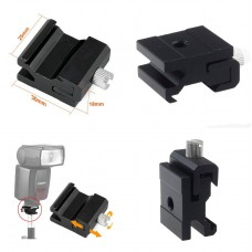 "Hot Shoe Flash to Bracket Stand Mount Adapter with 1/4"" Tripod Screw"