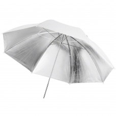 109cm 43 inch White Silver Umbrella