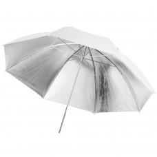 109cm 43 inch White Silver Umbrella