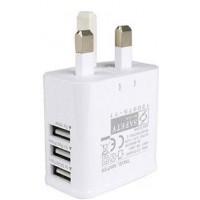 3 Port USB Charger UK Plug