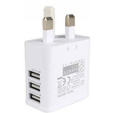 3 Port USB Charger UK Plug