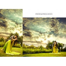 150 x 200 cm wedding photographic background clouds and trees