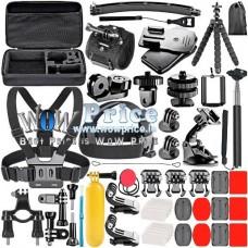 21344 52 in 1 Accessories Set Kit for Gopro Hero 1,2,3,3+,4, SJ4000, SJ5000, SJ6000, SJCAM,  AMKOV, Andoer, SOOCOO,