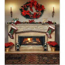 150 x 200 cm photographic background Christmas Fireplace