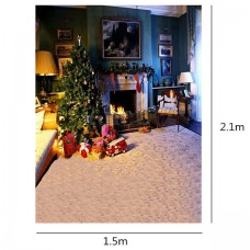 150 x 200 cm Photography Background Christmas Fire Place
