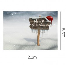 150 x 200 cm photography background Merry Christmas Snow