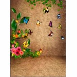 Butterfly Flower Studio Vinyl Photo Background