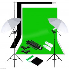 Umbrella Kit 3 x 6m  Non Woven Choose Color Background Stand 2x3m 250W
