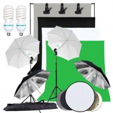 Umbrella Kit 1.6 x 3m Non Woven Green, Gray, Black, White,  Color Background Stand 2x3m 250W