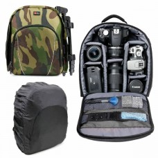 23522 Duragadget Camouflage Camera Backpack With Adjustable Interior