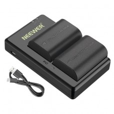05423 Neewer 2-Pack LP-E6 LP-E6N Battery Charger Set for Canon
