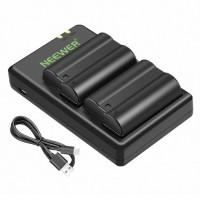 05433 Neewer 2-Pack EN-EL15 EN-EL15A Battery Charger Set