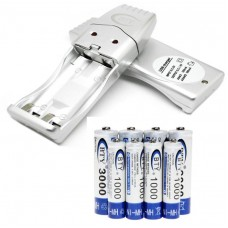 4 AA + 4 AAA Rechargeable Battery plus USB Charger