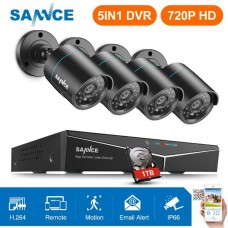Set SANNCE 4CH 5IN1 DVR CCTV Security Cameras System 1TB