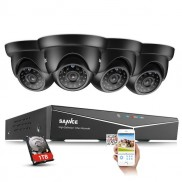 SANNCE 5IN1 8CH DVR HD 720P CCTV Camera System 1TB