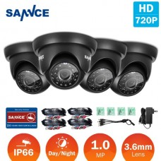 Cam of 4 SANNCE 4xOutdoor CCTV Cameras Weatherproof TVI 720P IR Cut Security Surveillance
