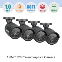 Cam of 4 SANNCE 4 Cameras 720P Bullet Home CCTV Security  Night Vision waterproof IR Cut