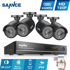 SANNCE 4CH 1080N HDMI DVR  720P IR CCTV Video Security Camera System No Hard Drive