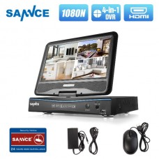 DVR Sannce 4CH DVR With Monitor for CCTV Cameras