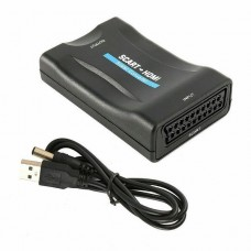 38222 SCART To HDMI Video Audio Upscale Converter Adapter HD 1080P