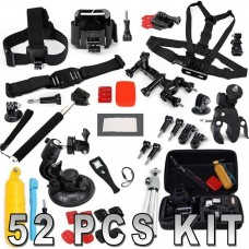 52 in 1 Accessories Set Kit for Gopro Hero 1,2,3,3+,4, SJ4000, SJ5000, SJ6000, SJCAM,  AMKOV, Andoer, SOOCOO,
