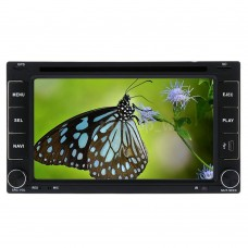 "Double DIN 6.2"" HD Car DVD Player GPS"