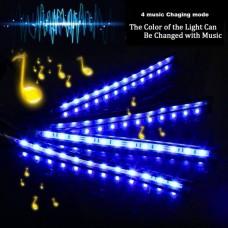 25312 Car RGB LED Strip Interior Light Multicolor Music Atmosphere Sound Active Foot LED Light Strip LED Lighting with USB Cigar Port